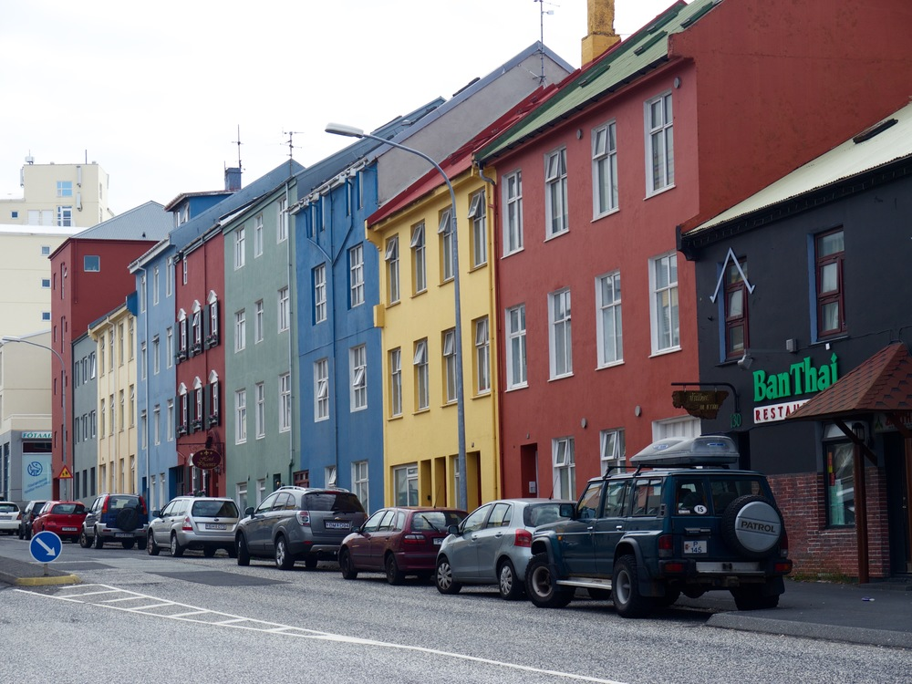 Reykjavik, Iceland- Typical Icelandic houses in the city center