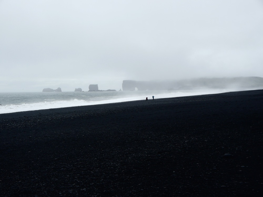 Vik, Iceland- The beautiful volcanic, black-sanded beaches of the southern coast.