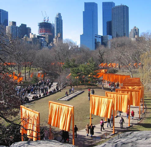 The Gates by Christo, Central Park, NYC, September 2005 Photo: Johnson Flickr