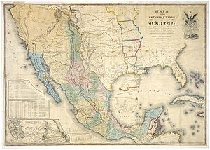 """Mapa de los Estados Unidos de Méjico   by John Distrunell, the 1847 map used during the negotiations of the  Treaty of Guadalupe Hidalgo  ending the  Mexican–American War ."