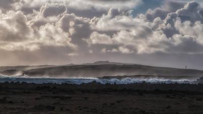 Surf, Spray and Clouds