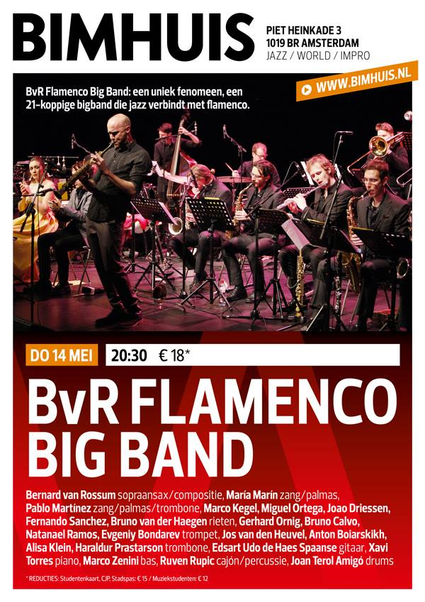 BvR Flamenco Big Band at the Bimhuis — Joao Driessen
