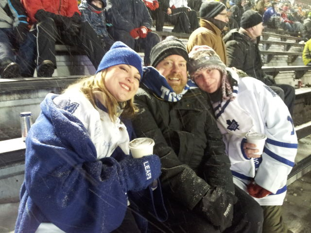 Kittana, me, and Erin — yes, I was exactly as cold as I looked. There was a jersey on under the jacket, honest.