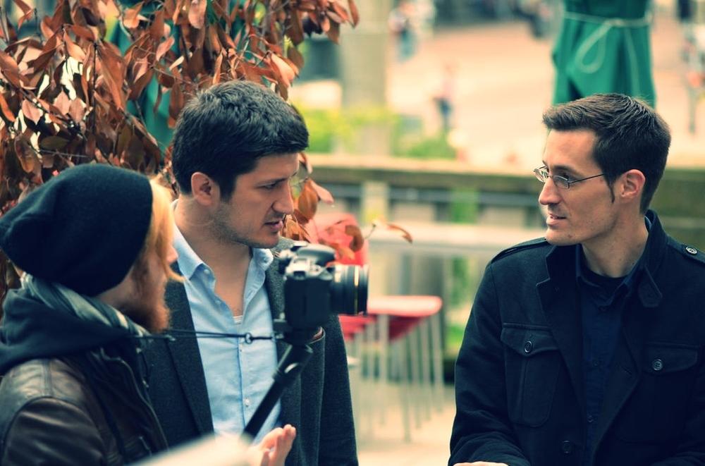 Alexander Schröder (Regie) mit Ƶlatko Valentić und Christian Dries. Freiburg 2013.
