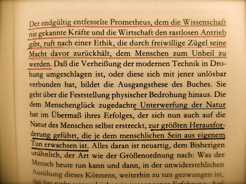 Jonas, Hans: Das Prinzip Verantwortung, Frankfurt a.M. 1979, S. 7.