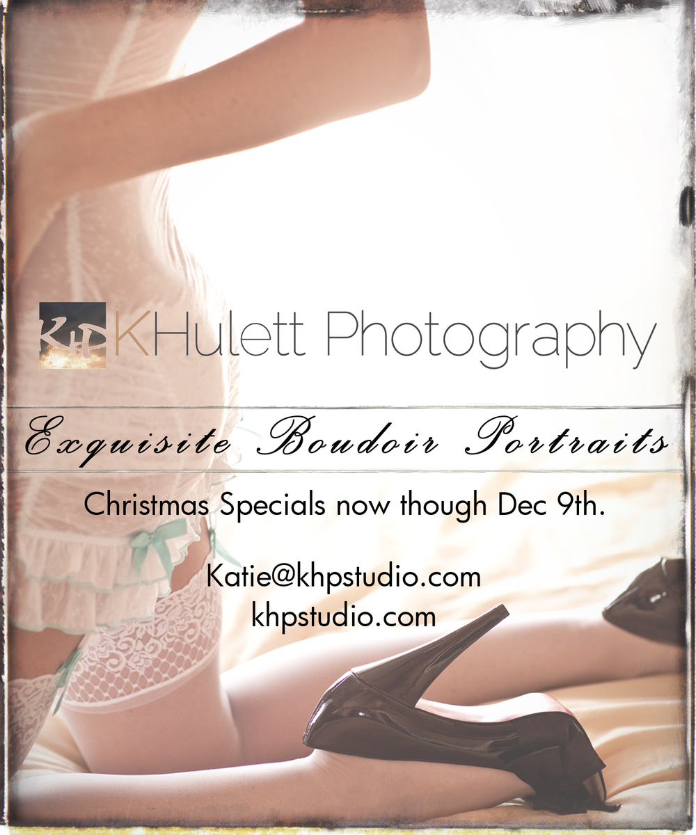 Book by December 15th to use anytime and receive $50 off any of our Boudoir packages!