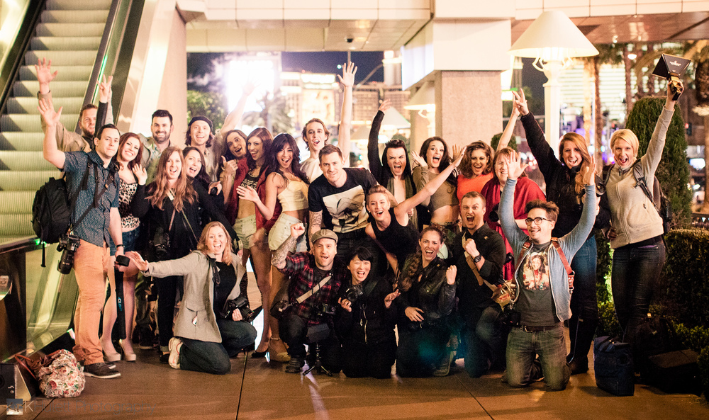 The remaining models & photogs at the end of the night.  It was late =)