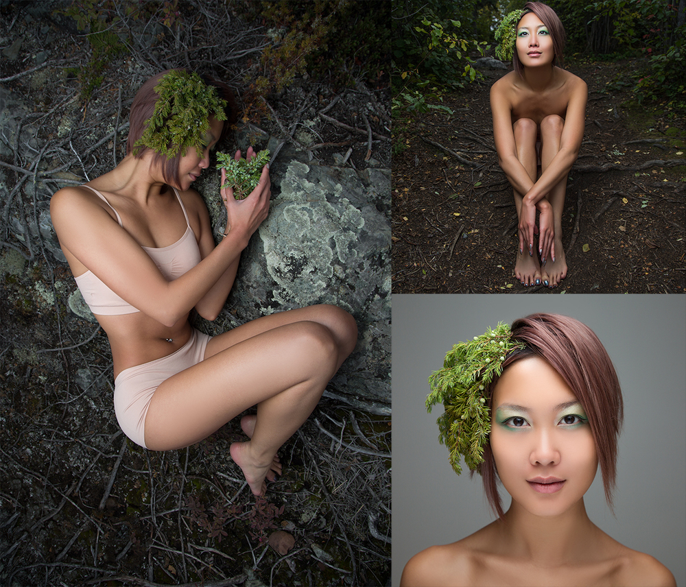 Creative Fine Art Photography session featuring Yellowknife model Erykah Tam.