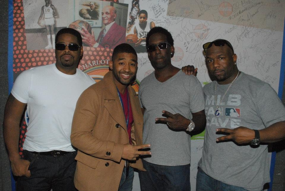Working with Boyz II Men during the CIAA 100th Anniversary Celebration in 2012