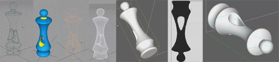 Workflow - Surface to Shell Object to Mesh for STL file export to 3D Systems ZPrint.