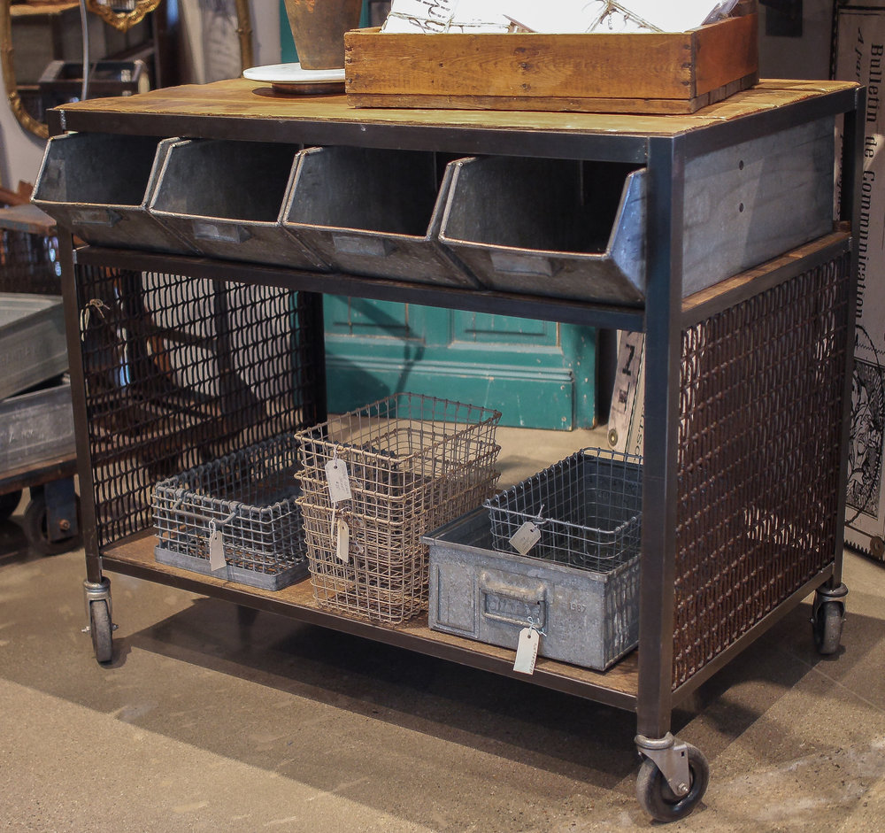 Metal and Wood Cart with Flour Bins 2.jpg