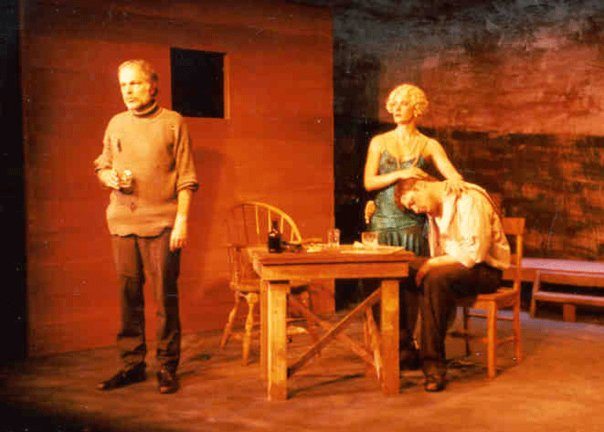 Dale Fuller (Chris Christopher), Caroline Strong (Anna), and William Peden (Mat).