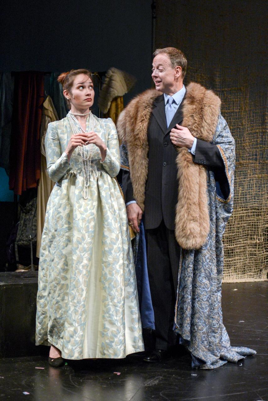 Natalie Newman (Lady Avare) & Mark Lanham (Lord Capulet)