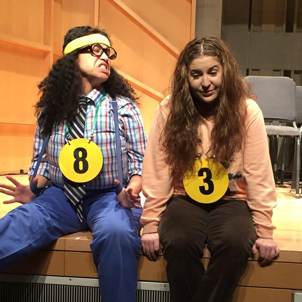 Marisa Miranda (Barfee) and Courtney Allen (Olive)
