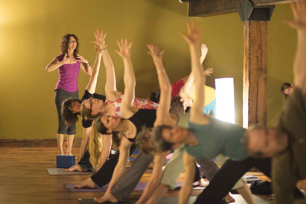Leading class at True Nature Yoga