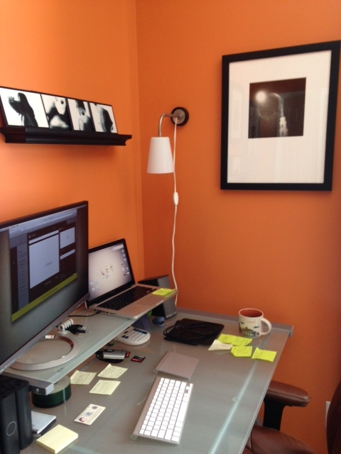 10 years after school, I still have my holga photo hanging next to my desk.