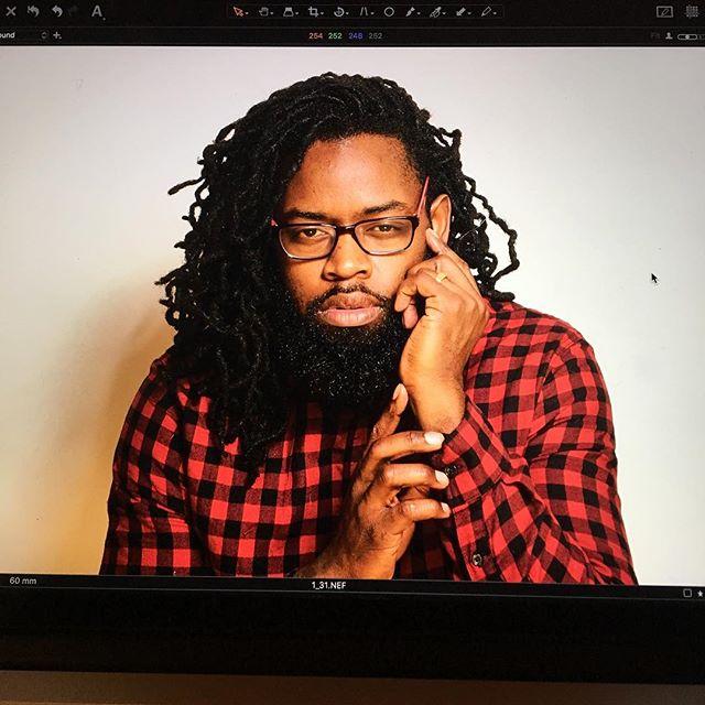 Testing my own Product... #selfie #nycdigitaltech #nydigitaltech #digitaltech #captureonemonk #beautydish #newyork #brooklyn #homestudio #meant2shinephoto #captureone11 #scotchporter #menwithlocs #locs #beardedprofessional #selfportrait