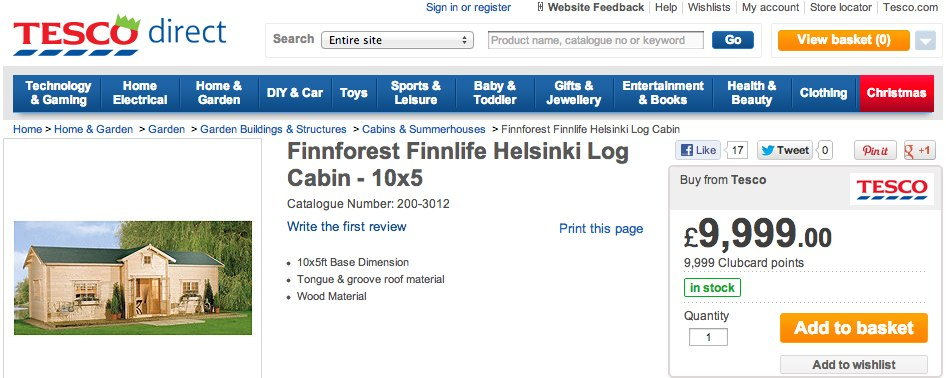 Tesco - Finnforest Finnlife Helsinki Log Cabin - 10x5-4.jpg