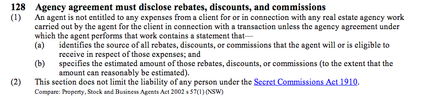 Real Estate Agents Act 2008 No 66 (as at 05 August 2013), Public Act 128 Agency agreement must disclose rebates, discounts, and commissions – New Zealand Legislation.png