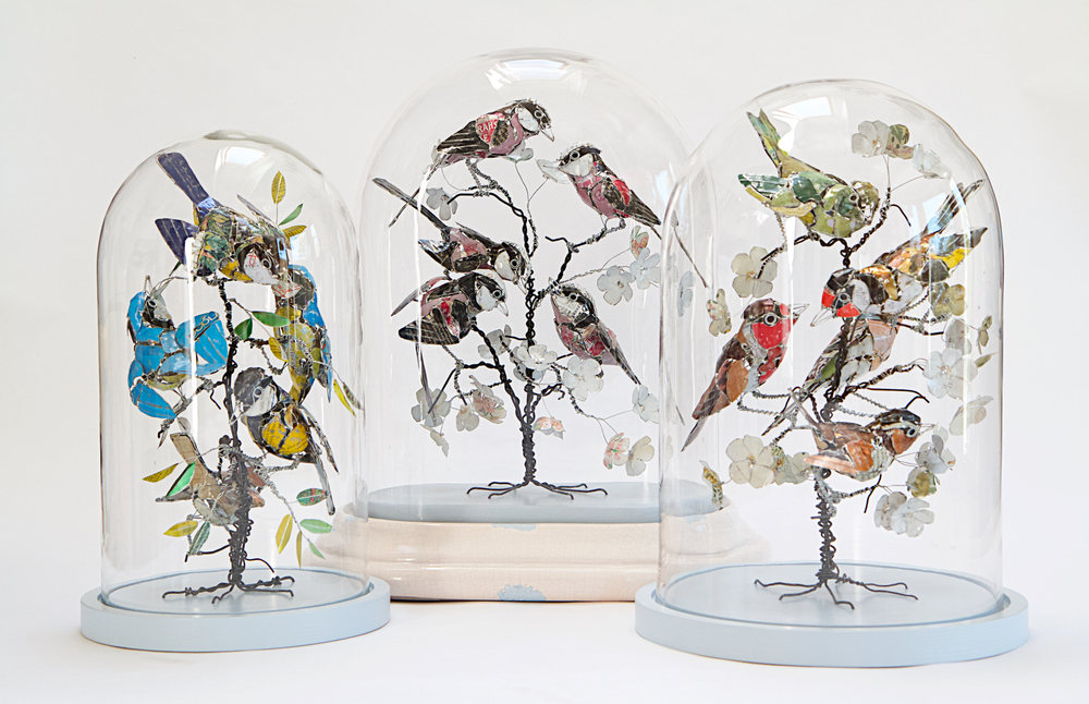 from the left:'If I keep a green bough in my heart, then the singing birds will come''Birds of a feather flock together'; 'Every bird loves to hear himself sing'