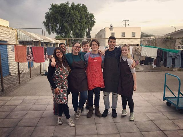 Apron'd up! The Mexico immersion group kicking goals