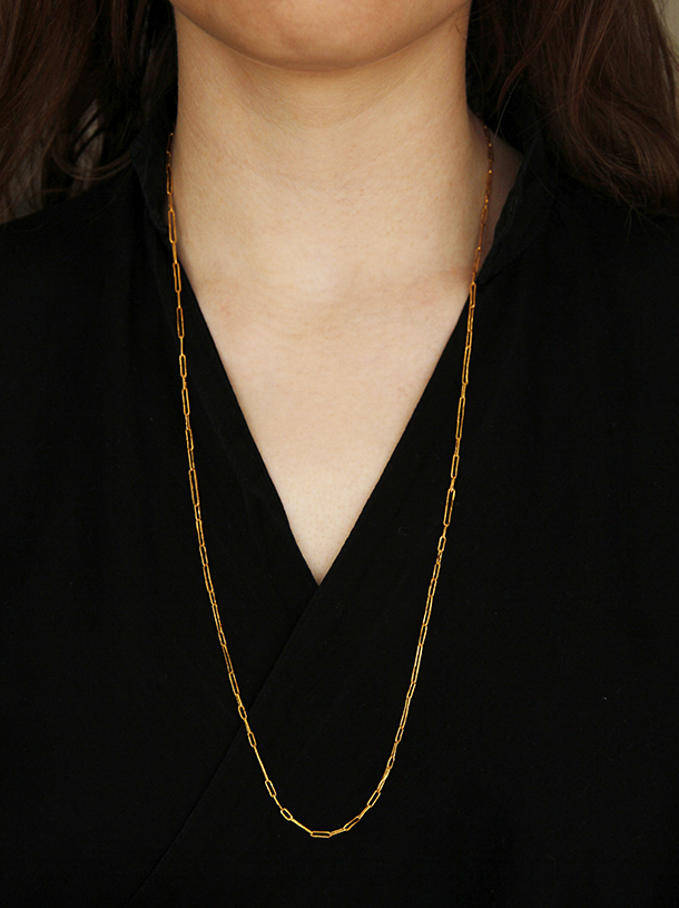 24ct hand made chain: the archaeology collection