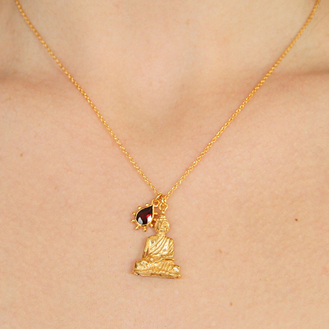 This Buddha and Garnet necklace is now available in a limited edition of 30