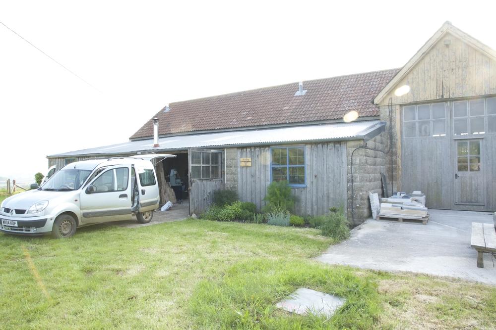 Alice Blogg studio, Downs Farm, Nettlecombe