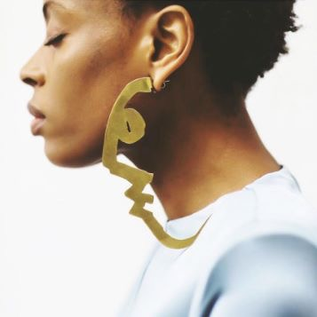 Kalmar Jewels: Giant profile earrings : Elle UK July 2017