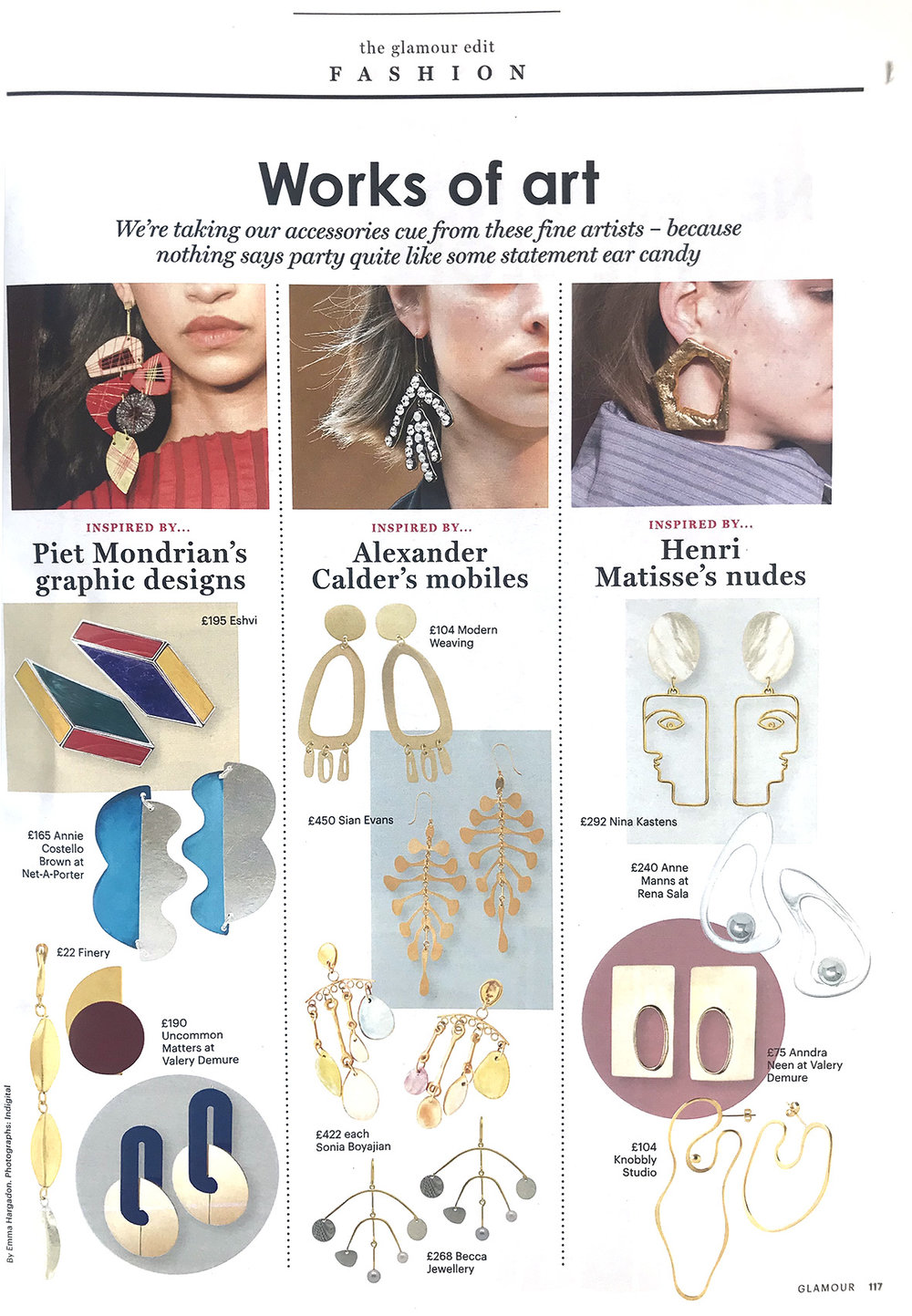 Botany, Infructescence earrings: Glamour December 2017