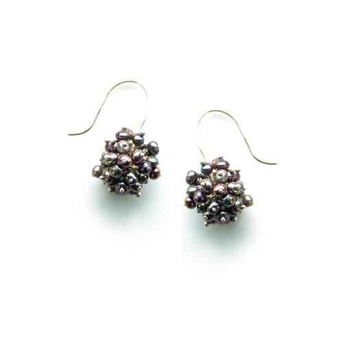 6bc522663fd Pod Earrings - 18ct Grey Gold