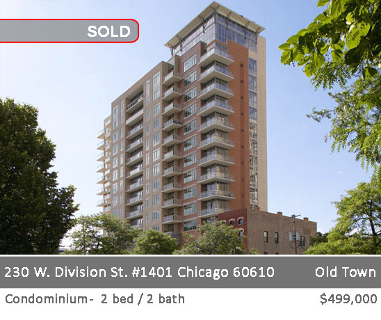 boutique condo building in old town with 1 & 2 bedroom condos. 230 w. division st. chicago.