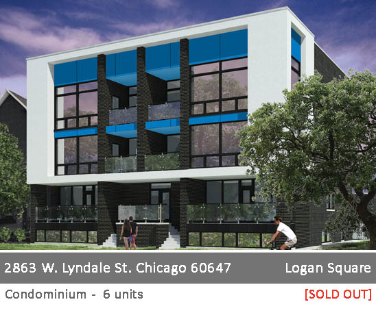 new duplex and simplex condo building in logan square. 2863 w. lyndale st, chicago.
