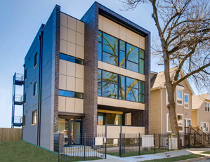 2903 W. LYNDALE ST. CHICAGO  3 unit condo building project sales & marketing developer REPRESENTATION