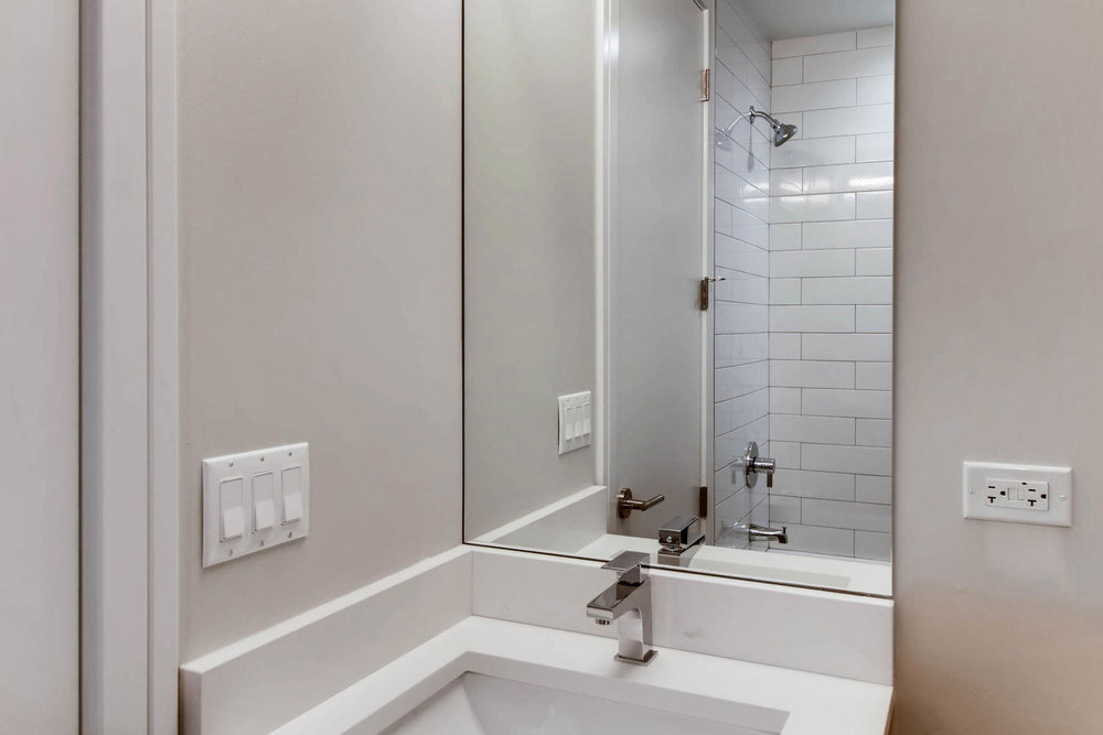 Guest bathroom at 877 N Marshfield Ave Unit 1, Chicago, IL