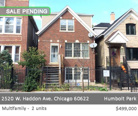 single family house with in-law apartment in humbolt park. 2520 w haddon ave, chicago.
