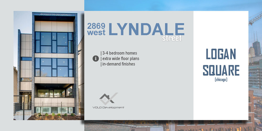 new construction condo building in logan square located at 2869 w lyndale st, chicago.