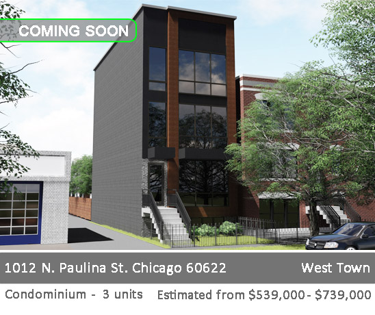 3129 W Lyndale st, CHICAGO, new construction CONDOS FOR SALE