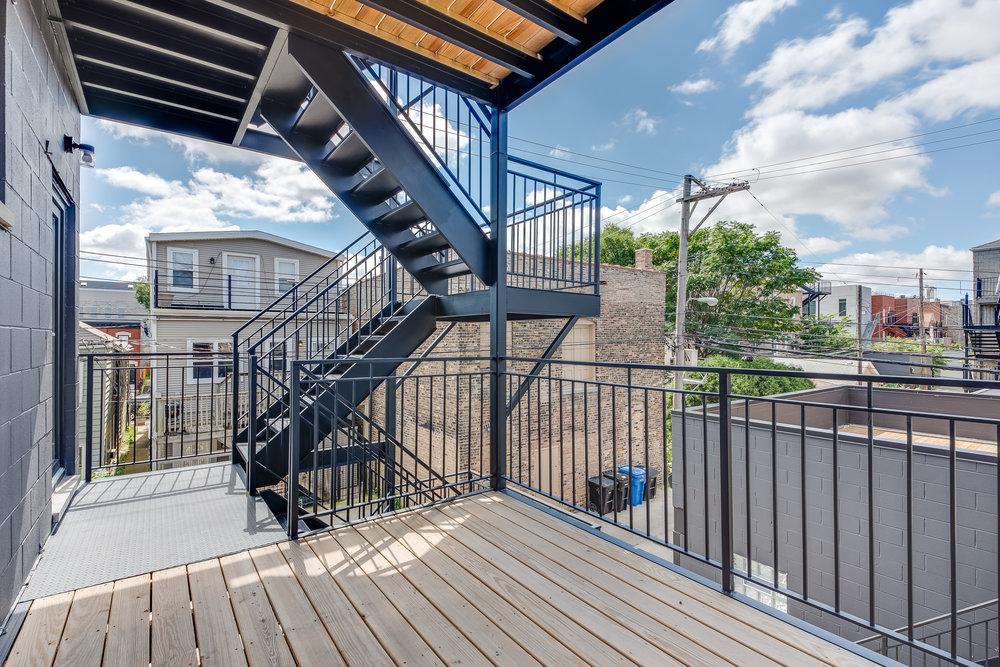 Rear deck at 1012 N Paulina St Unit 2, Chicago, IL
