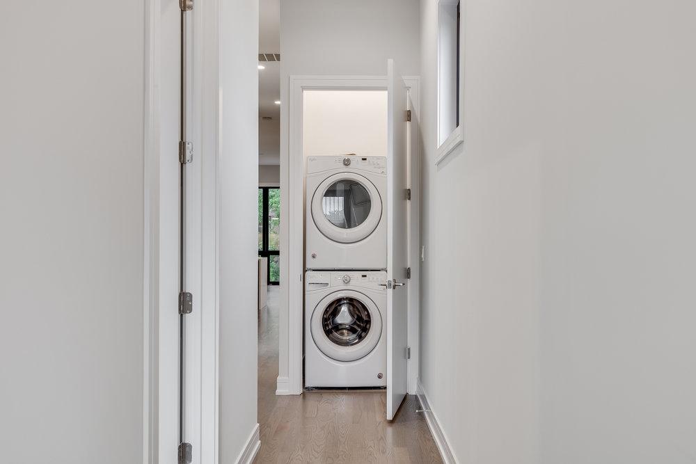 Laundry closet at 1012 N Paulina St Unit 3, Chicago, IL