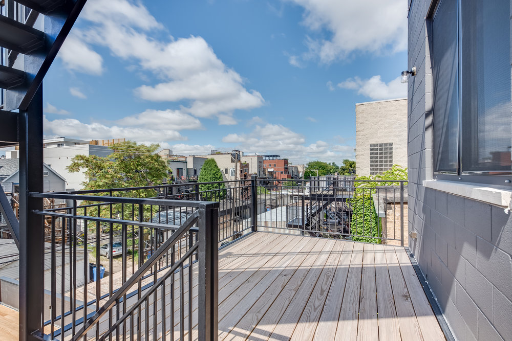 Rear deck at 1012 N Paulina St Unit 3, Chicago, IL