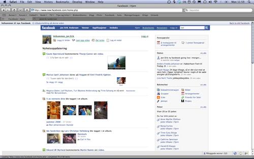 Oh, its a new Facebook! Og den har ikke blitt lansert enda ;O