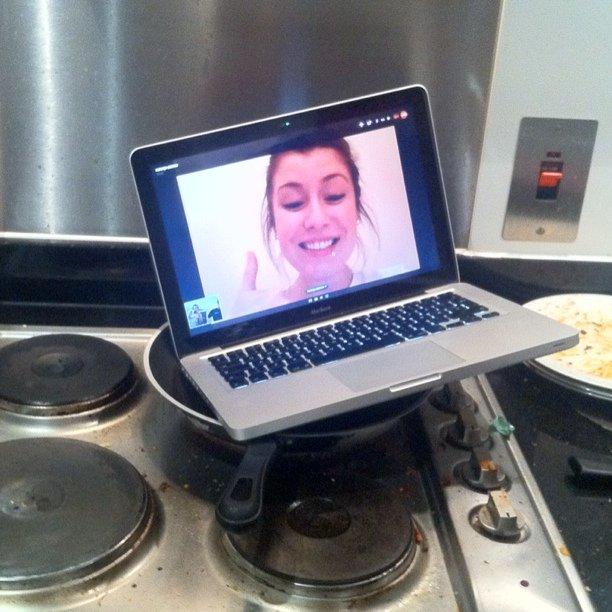 Skyping med Natasja er så jævlig stek! (Taken with instagram)