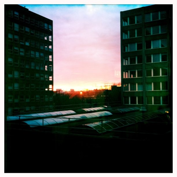 Sunset, that's about it.. (Taken with Instagram at Leeds Metropolitan University)