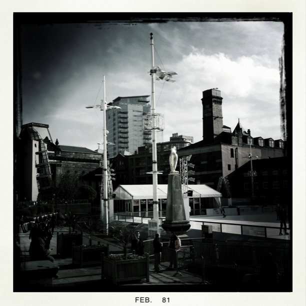 Millenium Square in B/W (Taken with  Instagram  at Millenium Square)