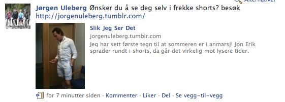 Det er en som har skjønt det. Jørgen Uleberg, gratulerer! Du har skjønt bruken av teh blogg, og mater ut fornuftige innlegg. Følg Jørgen Uleberg.
