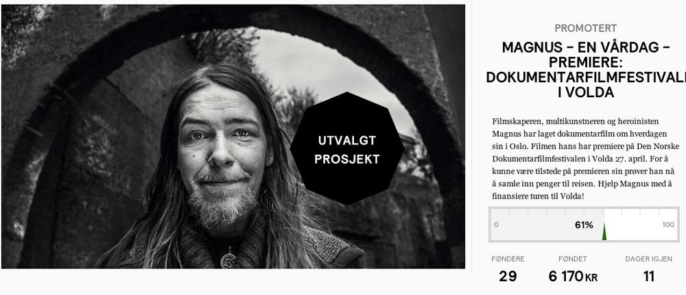 Ta en tur inn på Fønd og gi Magnus et lite eller stort beløp, slik at han kan komme seg til Volda.