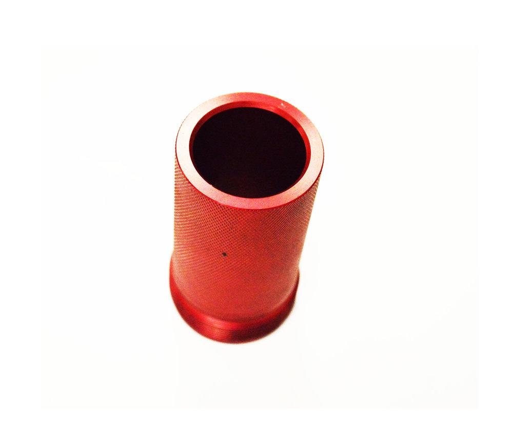 Muleshoe Wear Cuff Go/           No-Go Gauge       Red Anodized Aluminum            SMS-9007