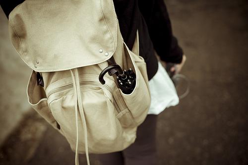 beige bag. pretty
