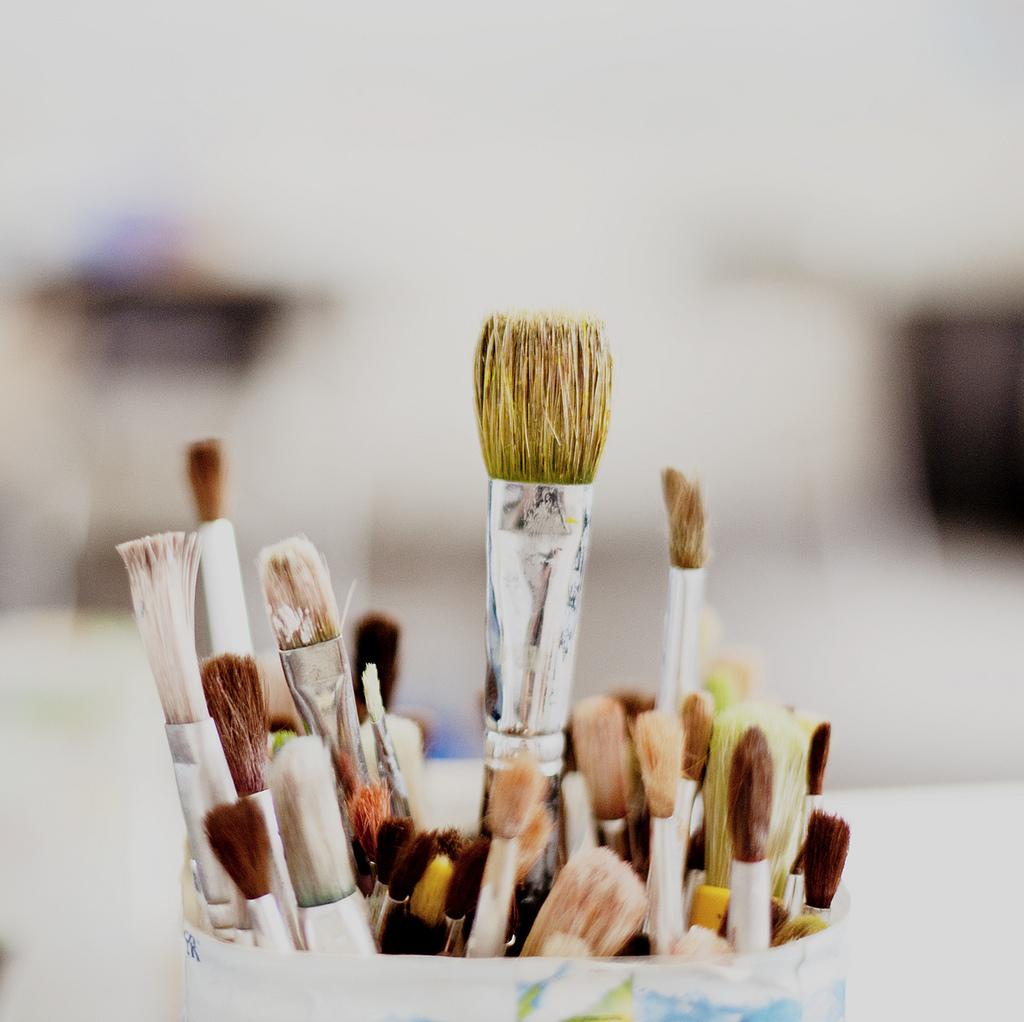 ♥ paintbrushes!
